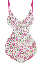 Escape leopard-print cutout swimsuit