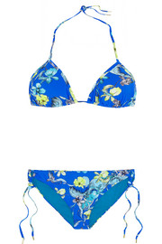 Escape floral-print triangle bikini