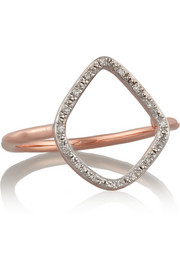 Monica Vinader Riva rose gold-plated diamond ring