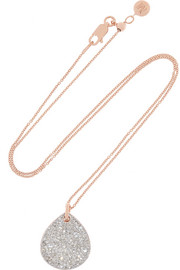 Monica Vinader Alma rose gold-plated diamond necklace