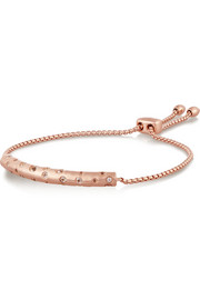Esencia rose gold-plated topaz bracelet