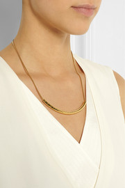 Monica Vinader Esencia gold-plated necklace