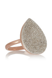 Alma rose gold-plated diamond ring