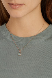 Monica Vinader Siren rose gold-plated aquamarine necklace