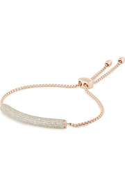 Monica Vinader Esencia rose gold-plated diamond bracelet
