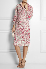 Vilshenko Heidi printed silk-crepe dress