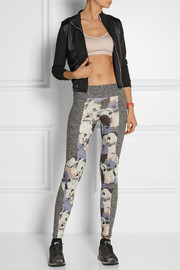Live The Process Paneled printed stretch-jersey leggings