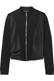 Paneled stretch-jersey jacket