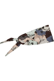 Floral-print stretch-jersey headband
