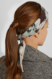 Live The Process Floral-print stretch-jersey headband
