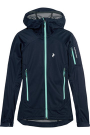 Peak Performance Aneto stretch-shell hooded jacket