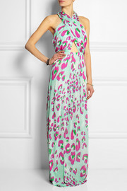 Matthew Williamson Electro Leopard printed jersey maxi dress