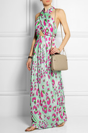 Electro Leopard printed jersey maxi dress