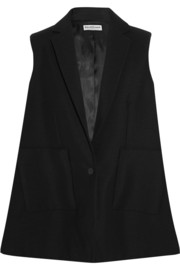 Wool and mohair-blend vest