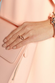 Bow rose gold-tone ring
