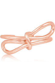 Bow rose gold-tone cuff