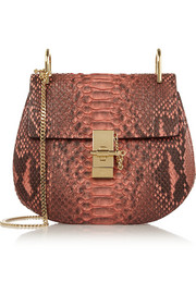 Drew small python shoulder bag