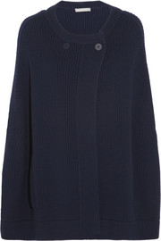 Richard Nicoll Ribbed wool cape