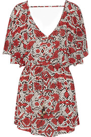 Manteon printed jersey kaftan