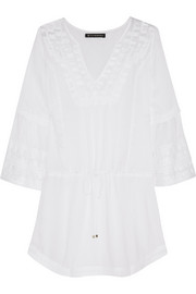 Daisy embroidered voile kaftan