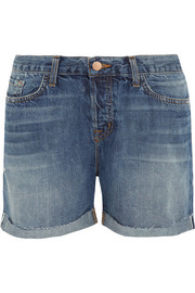 Raine low-rise stretch-denim shorts