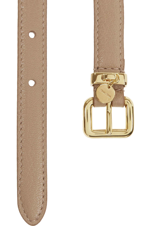 Miu Miu Skinny leather belt