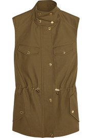 Stretch-cotton vest