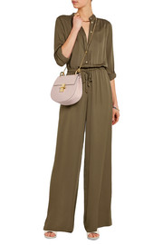 Silk-crepe wide-leg jumpsuit
