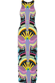 Printed stretch-modal jersey maxi dress
