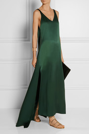 Rosetta Getty Silk-satin gown