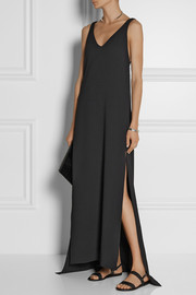 Rosetta Getty Textured-crepe gown