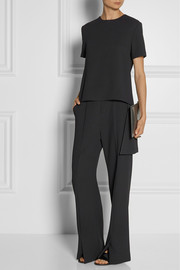 Rosetta Getty Asymmetric pleated twill top