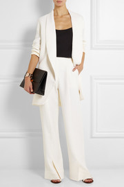 Rosetta Getty Wool, cotton and silk-blend twill wide-leg pants