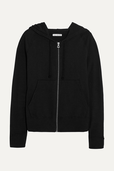 james perse female james perse vintage supima cottonjersey hooded top black