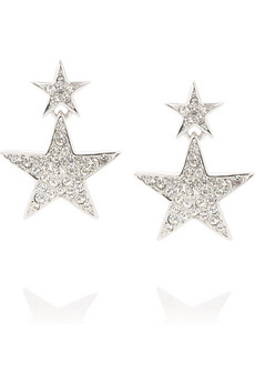 Kenneth Jay Lane Rhinestone star earrings