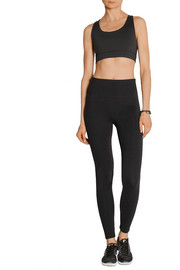 Milan stretch cotton-jersey leggings