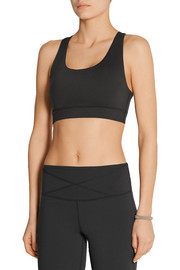 Janet mesh-trimmed stretch-jersey sports bra