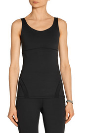 Emily mesh-trimmed stretch-jersey tank