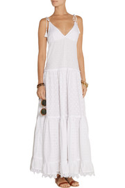 Tiered broderie anglaise maxi dress
