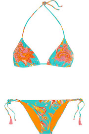 Funky embellished triangle bikini