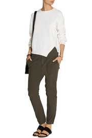James Perse Stretch-cotton twill tapered pants