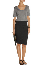 High-rise stretch-jersey skirt