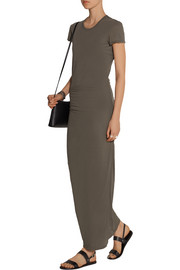 Cotton-jersey maxi dress