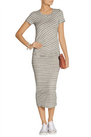 James Perse Striped cotton-jersey midi dress