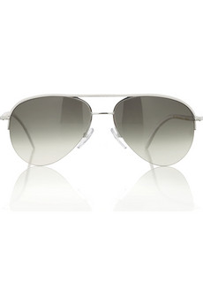 Cutler and Gross Leather-trim aviators