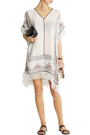 Talitha Embroidered silk-muslin kaftan