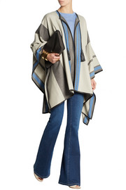 Talitha Striped cashmere and wool-blend cape