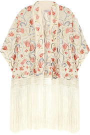 Talitha Prairie embroidered silk-georgette jacket