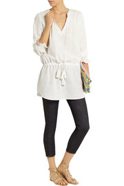 Talitha Pintucked cotton tunic top