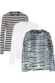Proenza Schouler Set of three slub cotton-jersey tops